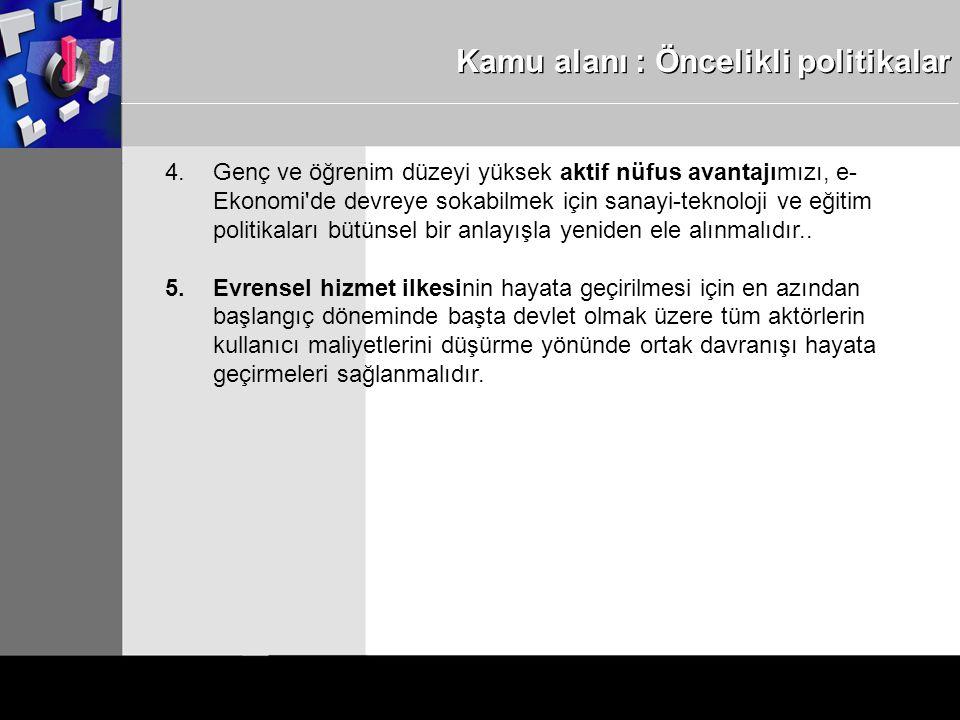 Kamu alanı : Öncelikli politikalar 4.