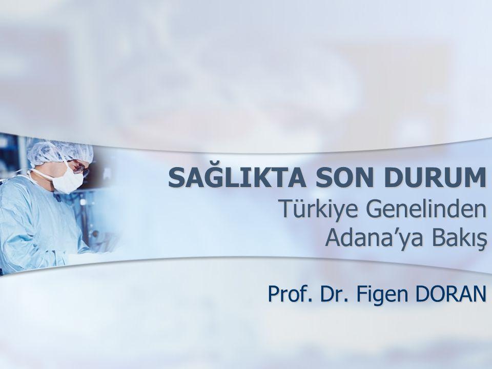 SAĞLIKTA SON DURUM Türkiye Genelinden Adana'ya Bakış Prof. Dr. Figen DORAN