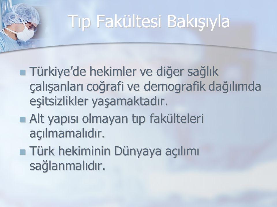 Türkiye'de hekimler ve diğer sağlık çalışanları coğrafi ve demografik dağılımda eşitsizlikler yaşamaktadır.