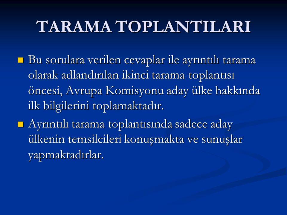TARAMA RAPORU 7.Sosyal Koruma 8. Ayrımcılıkla mücadele 9.