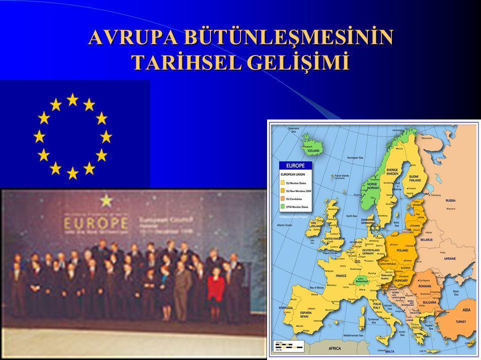 2 Tarih Boyunca Avrupa Bütünleşmesi Fikri (1) Avrupa sözcüğünü ilk kez MÖ 7.