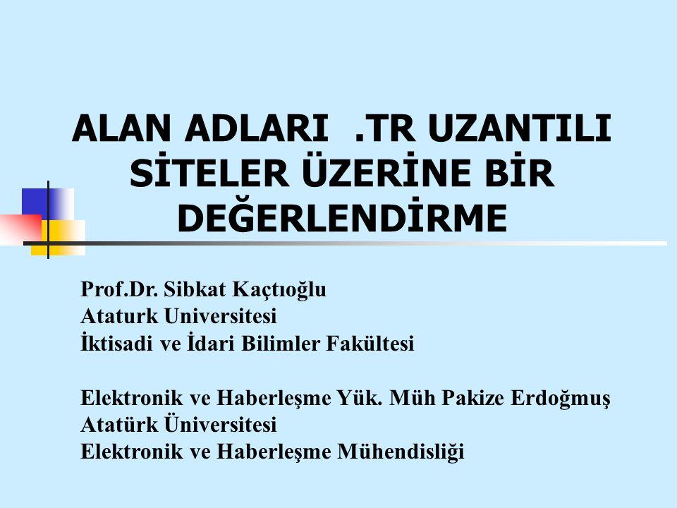 ALAN ADLARI.TR UZANTILI SİTELER ÜZERİNE BİR DEĞERLENDİRME Prof.Dr.