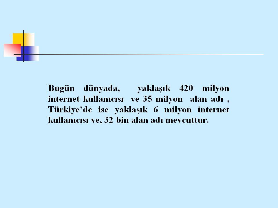 Bildirinin Amacı; Türkiye internetini oluşturan siteleri alan adlarına göre incelemektir.