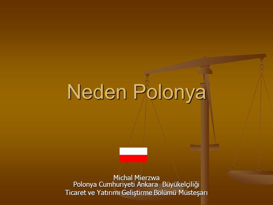 Neden Polonya Michal Mierzwa Polonya Cumhuriyeti Ankara Büyükelçiliği Ticaret ve Yatırımı Geliştirme Bölümü Müsteşarı