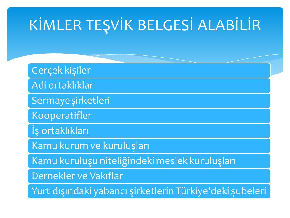 Teşvik belgesi müracaatı Ekonomi Bakanlığı Teşvik Uygulama ve Yabancı Sermaye Genel Müdürlüğüne yapılır.