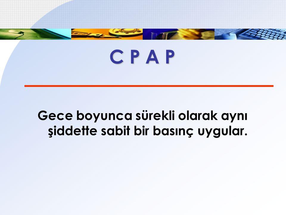Titrasyonda APAP  APAP aletlerinin basınç sınırları  Min.