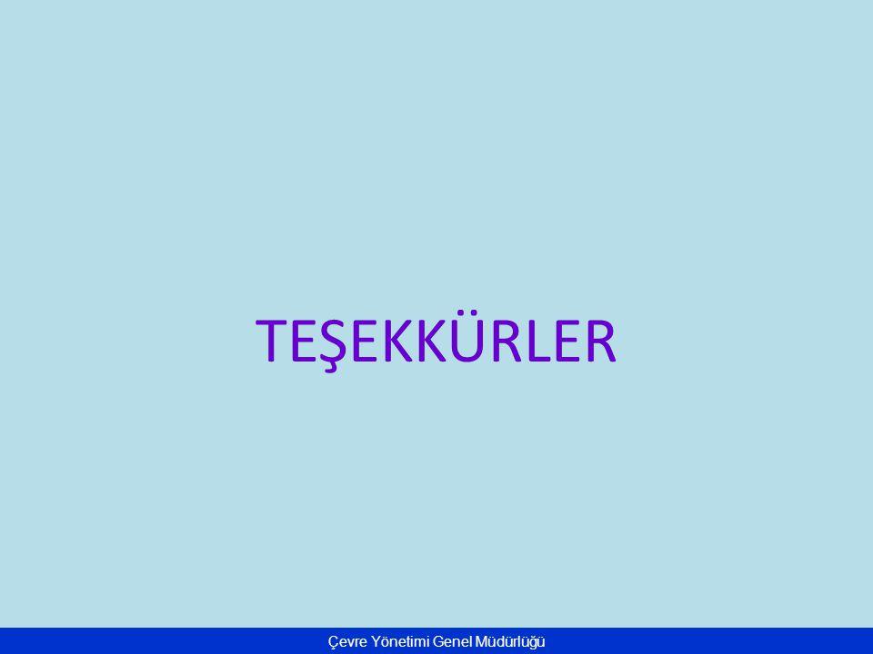Çevre Yönetimi Genel Müdürlüğü TEŞEKKÜRLER