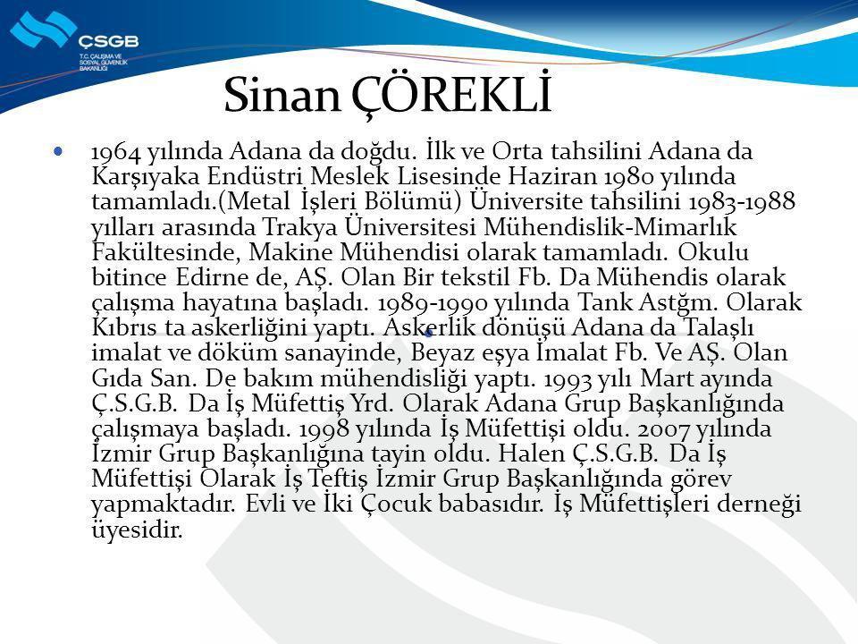 1964 yılında Adana da doğdu.