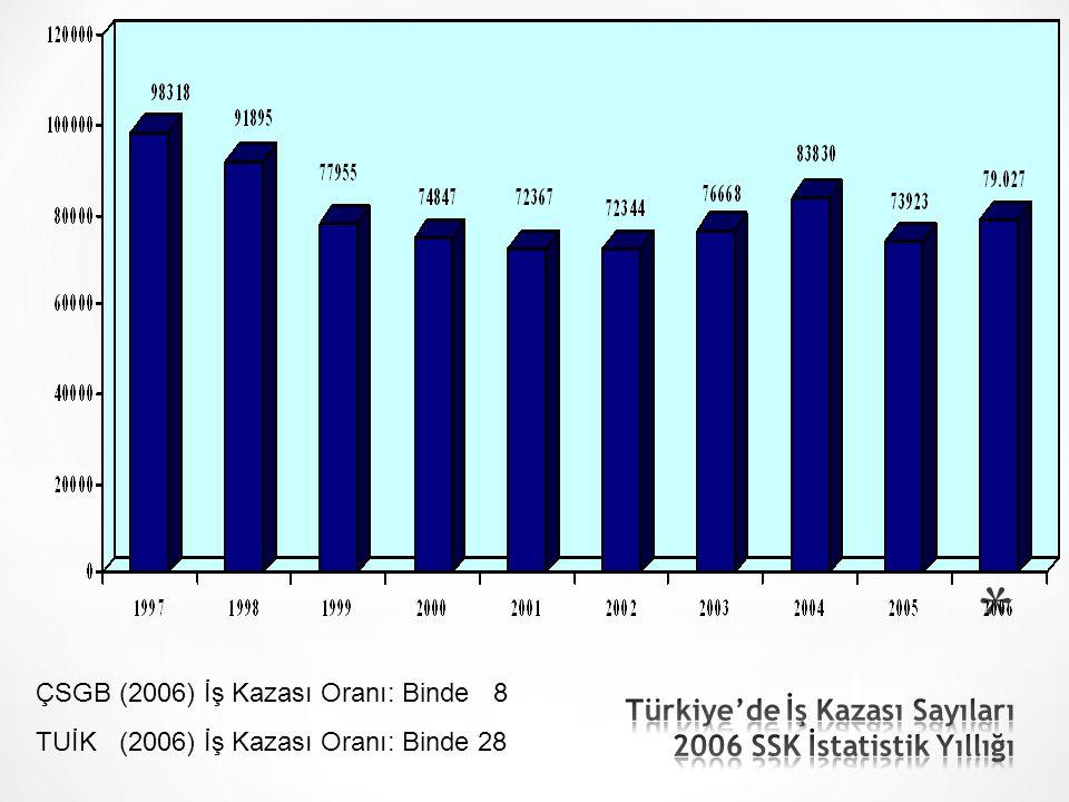 * TÜRKİYE - SGK İSTATİSTİKLERİ (2009)  İşyeri sayısı – 1.216.308  İşyerlerinin %99.7'si KOBİ (1-250 işçi)'dir.
