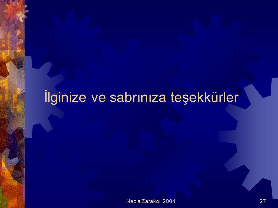Necla Zarakol 200427 İlginize ve sabrınıza teşekkürler