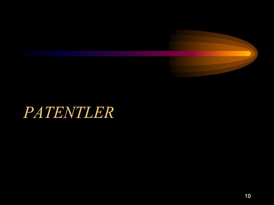 10 PATENTLER