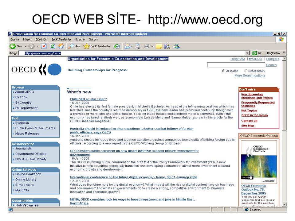 OECD WEB SİTE- http://www.oecd.org