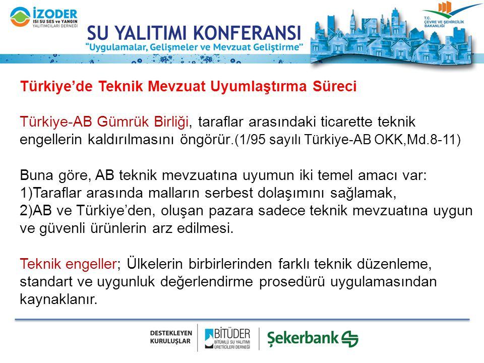 Türkiye'de Teknik Mevzuat Uyumlaştırma Süreci Türkiye-AB Gümrük Birliği, taraflar arasındaki ticarette teknik engellerin kaldırılmasını öngörür.(1/95