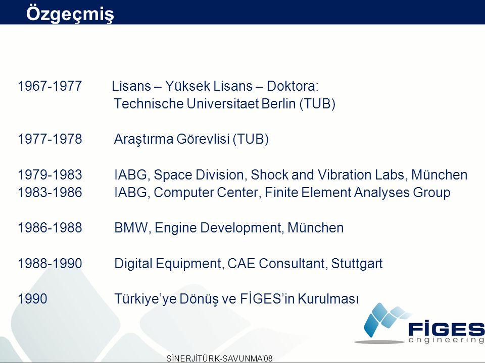 Özgeçmiş 1967-1977 Lisans – Yüksek Lisans – Doktora: Technische Universitaet Berlin (TUB) 1977-1978Araştırma Görevlisi (TUB) 1979-1983IABG, Space Divi