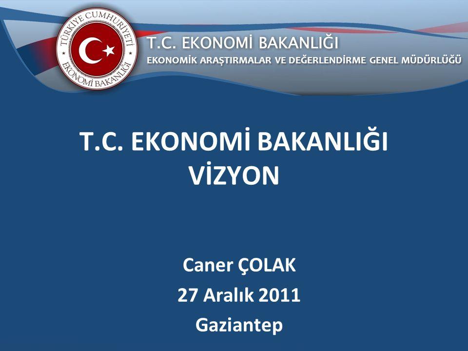 Genel Ekonomik Görünüm Ekonomi Bakanlığı Vizyonu ve Misyonu Ekonomi Bakanlığı Teşkilat Yapısı ve Ana Hizmet Birimlerinin Görevleri Sunuş Planı 2
