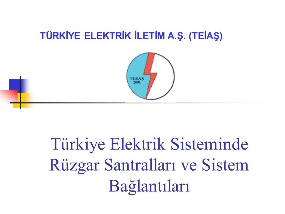 Türkiye Elektrik Sisteminde Rüzgar Santralları ve Sistem Bağlantıları TÜRKİYE ELEKTRİK İLETİM A.Ş.