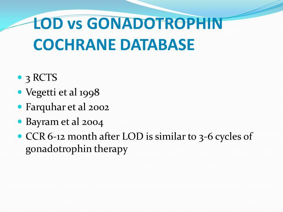 LOD-Hangi olgularda başarılı? Obez, ağır hiperandrojenemik ve infertilite süresi uzun olan olgularda başarı daha az. Drilling sonrası ovulasyon olan o