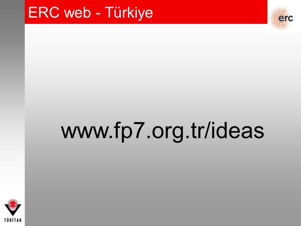ERC web - Türkiye www.fp7.org.tr/ideas