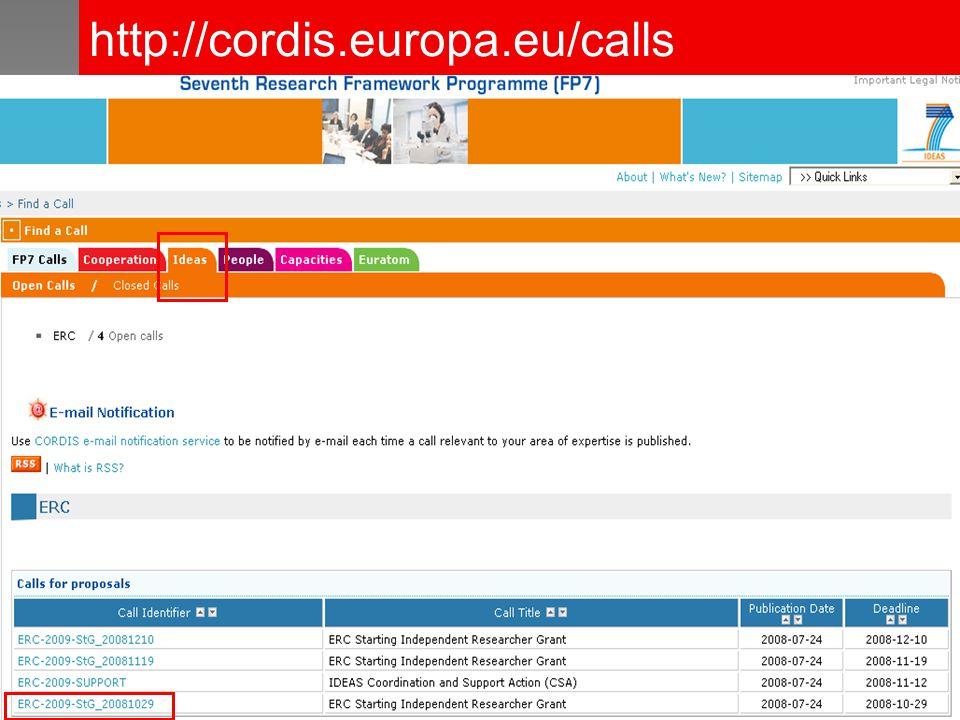 http://cordis.europa.eu/calls