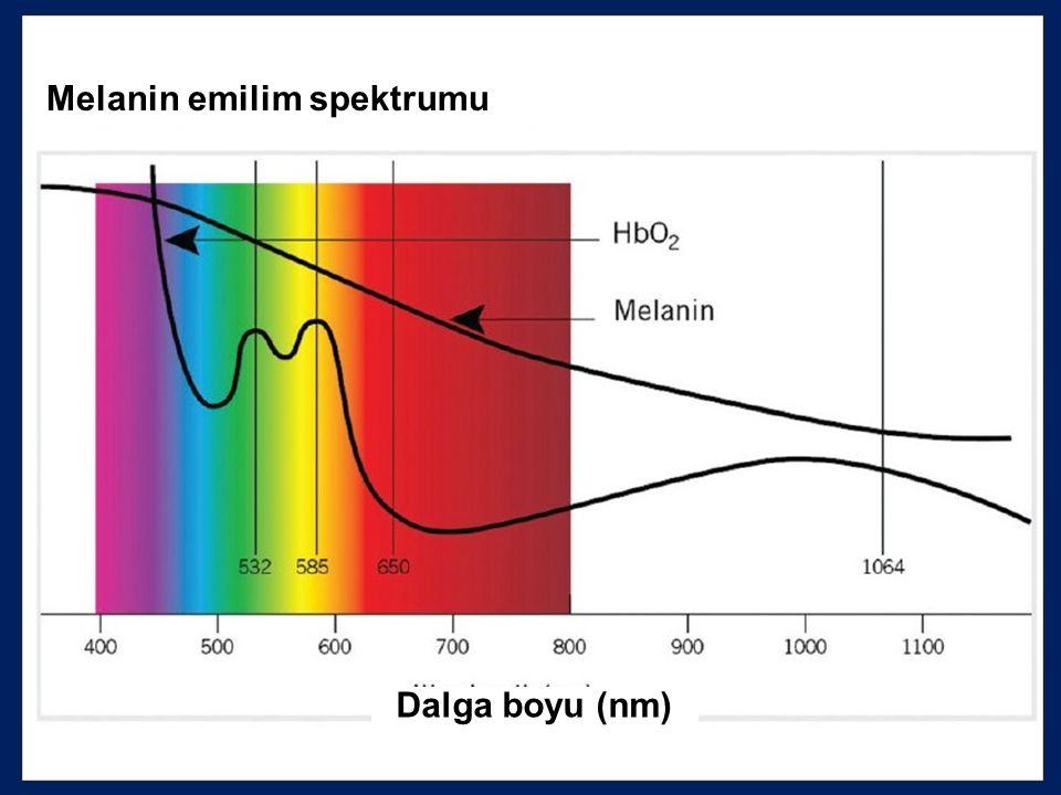 Melanin emilim spektrumu Dalga boyu (nm)