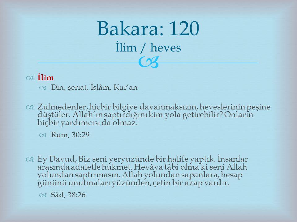   İlim  Din, şeriat, İslâm, Kur'an  Zulmedenler, hiçbir bilgiye dayanmaksızın, heveslerinin peşine düştüler. Allah'ın saptırdığını kim yola getire