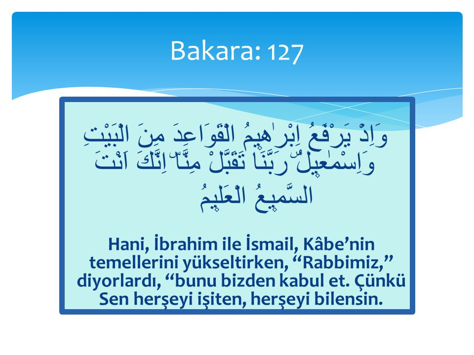  Âyetler = Kur'ân  Kitap = Kur'ân  Hikmet = Sünnet  Hakîm: Esmâ-i Hüsnâ'dan / Kur'ân'ın sıfatı / Sünnetin sıfatı  Resulullah'ın (s.a.v.) Sünneti baştan sona hikmetten ibaret  «Şunu iyi bilin ki, bana Kur'ân ile beraber onun bir misli daha verilmiştir.»  Ebû Davud, Sünnet: 5 Bakara: 129 / Kitap ve Hikmet