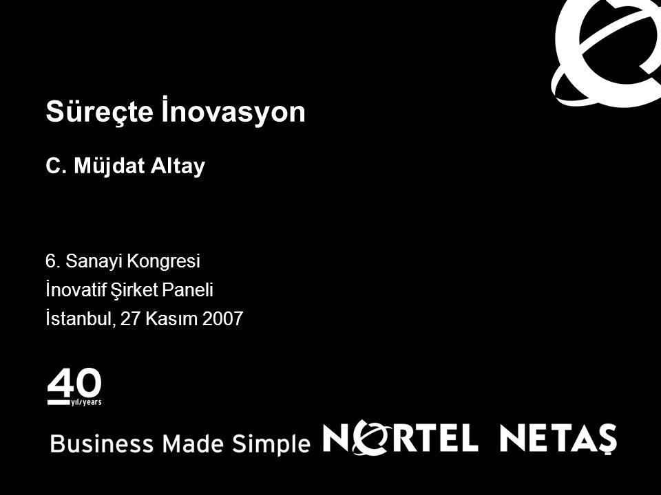 Süreçte İnovasyon C. Müjdat Altay 6. Sanayi Kongresi İnovatif Şirket Paneli İstanbul, 27 Kasım 2007