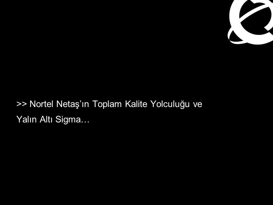 >> Nortel Netaş'ın Toplam Kalite Yolculuğu ve Yalın Altı Sigma…