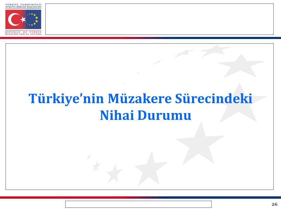 26 Türkiye'nin Müzakere Sürecindeki Nihai Durumu