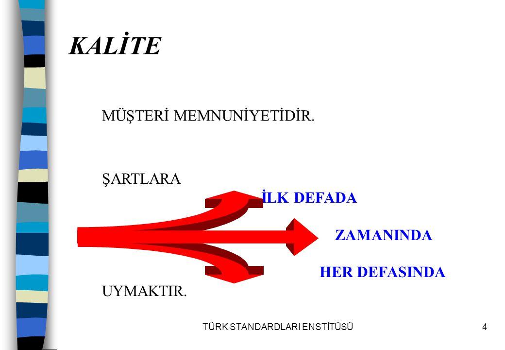 TÜRK STANDARDLARI ENSTİTÜSÜ75 5.Yönetim Sorumluluğu 5.1.