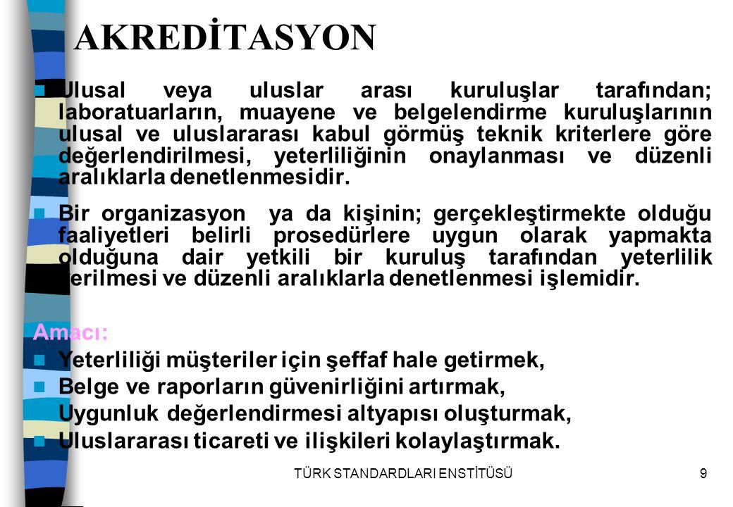 TÜRK STANDARDLARI ENSTİTÜSÜ160 7.5.5.