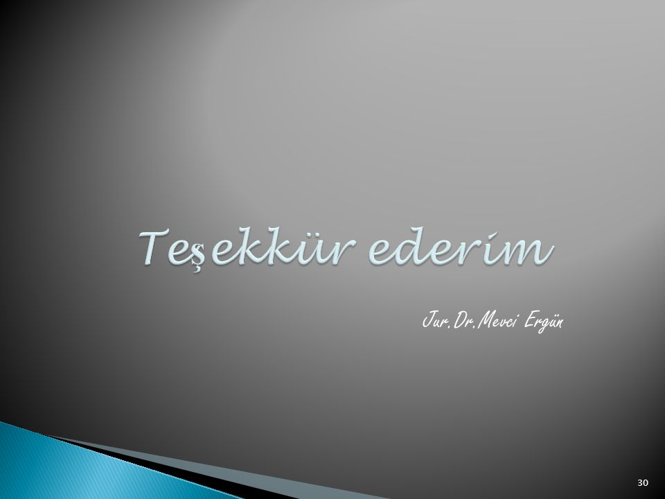 Jur.Dr.Mevci Ergün 30