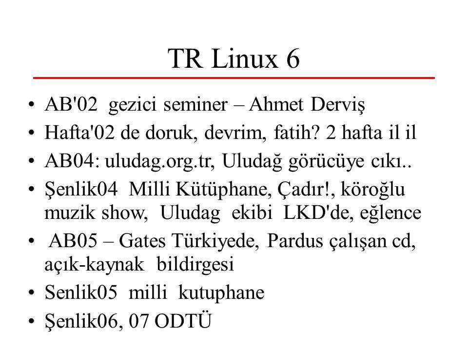 TR Linux 6 AB 02 gezici seminer – Ahmet Derviş Hafta 02 de doruk, devrim, fatih.