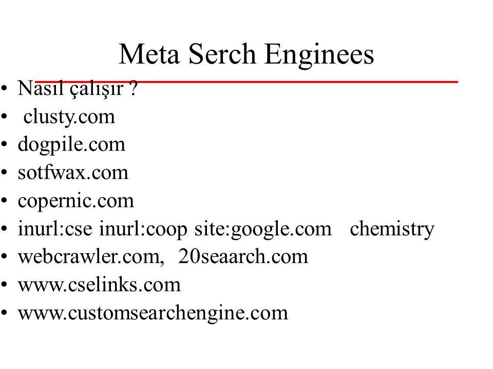 Meta Serch Enginees Nasıl çalışır .