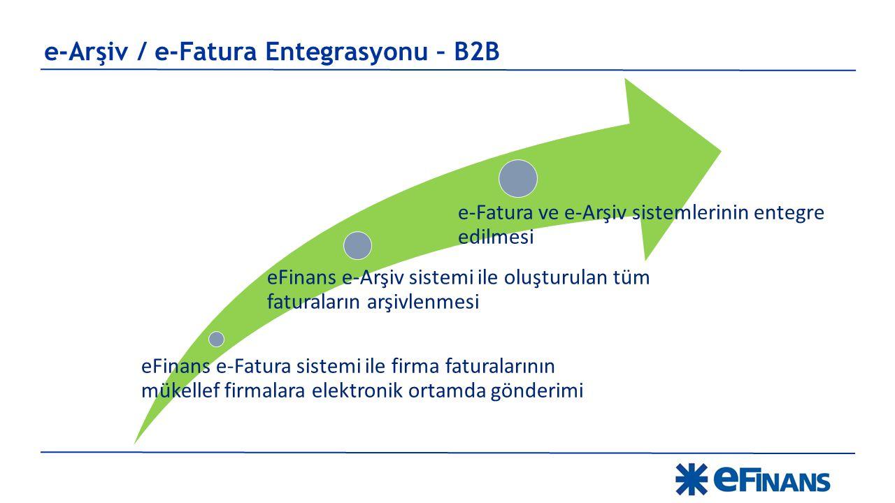 eFinans e-Fatura sistemi ile firma faturalarının mükellef firmalara elektronik ortamda gönderimi eFinans e-Arşiv sistemi ile oluşturulan tüm faturalar