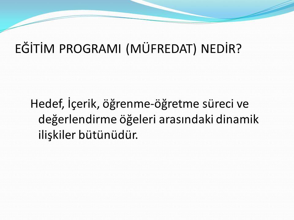 -3- Eğitim Programı
