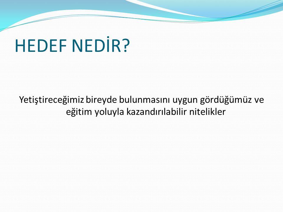HEDEF-İÇERİK ÇİZELGESİ (Belirtke Tablosu)