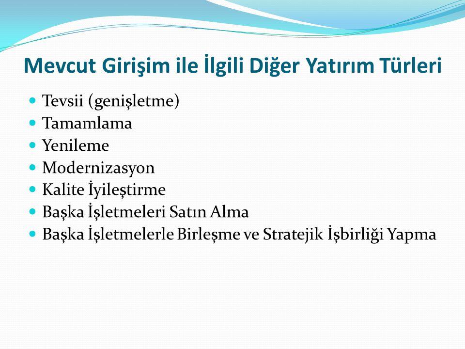 İŞLETME KURULUŞU İLE İLGİLİ ÖZEL KONULAR 1.