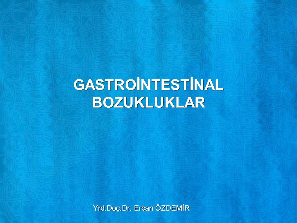 Gastrit –Gastritlerin çoğu kronik bakteriyel enfeksiyon sonucu oluşmaktadır –Çoğu zaman yoğun antibiyotik tedavisi ile başarılı şekilde tedavi edilebilmektedir –Ayrıca, ağızdan alınan bazı iritan maddeler koruyucu mide mukoza engeline zarar vererek ağır akut veya kronik gastritlere yol açmaktadır –Bu maddelerden alkol ve aspirin en sık etkili olanlardır –Gastritlerin çoğu kronik bakteriyel enfeksiyon sonucu oluşmaktadır –Çoğu zaman yoğun antibiyotik tedavisi ile başarılı şekilde tedavi edilebilmektedir –Ayrıca, ağızdan alınan bazı iritan maddeler koruyucu mide mukoza engeline zarar vererek ağır akut veya kronik gastritlere yol açmaktadır –Bu maddelerden alkol ve aspirin en sık etkili olanlardır