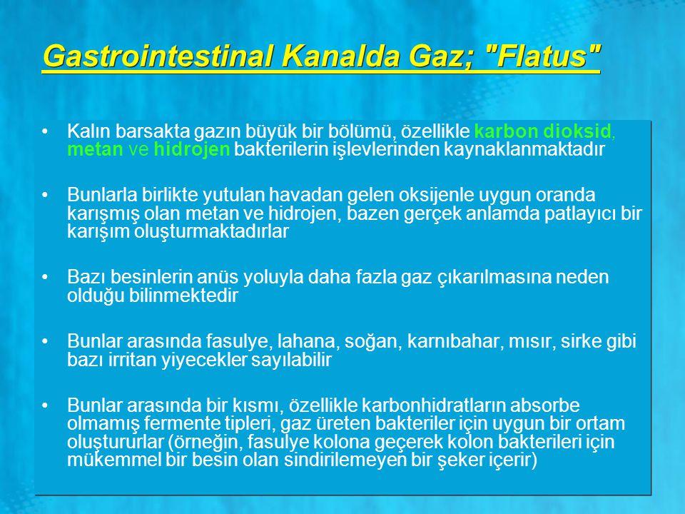 Gastrointestinal Kanalda Gaz;