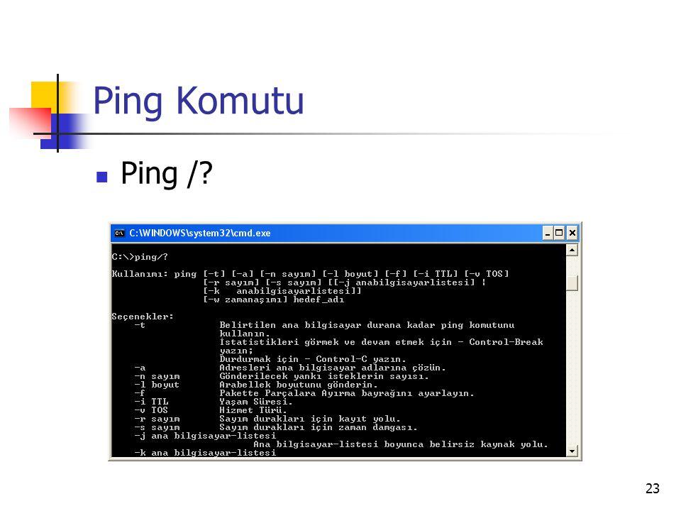 23 Ping Komutu Ping /?