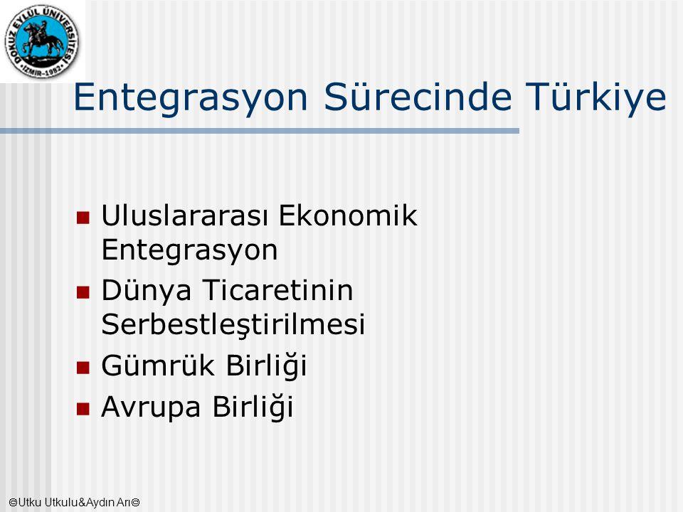 Entegrasyon Sürecinde Türkiye Uluslararası Ekonomik Entegrasyon Dünya Ticaretinin Serbestleştirilmesi Gümrük Birliği Avrupa Birliği  Utku Utkulu&Aydı