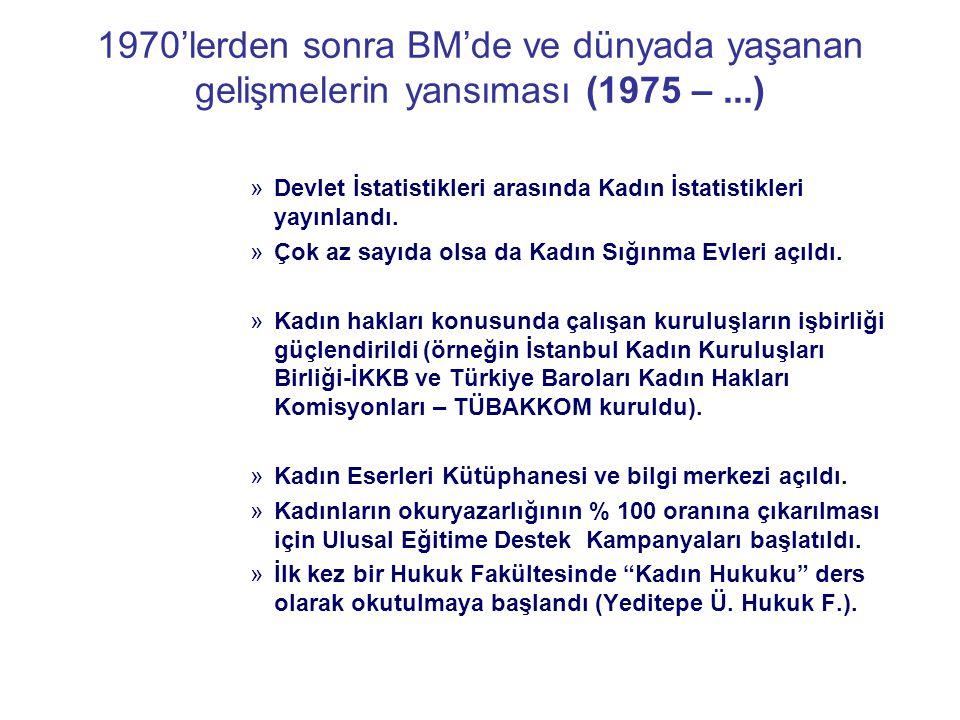 AB'ne uyum süreci (1999 – ) 2001'de Türk Medeni Kanunu kabul edildi.