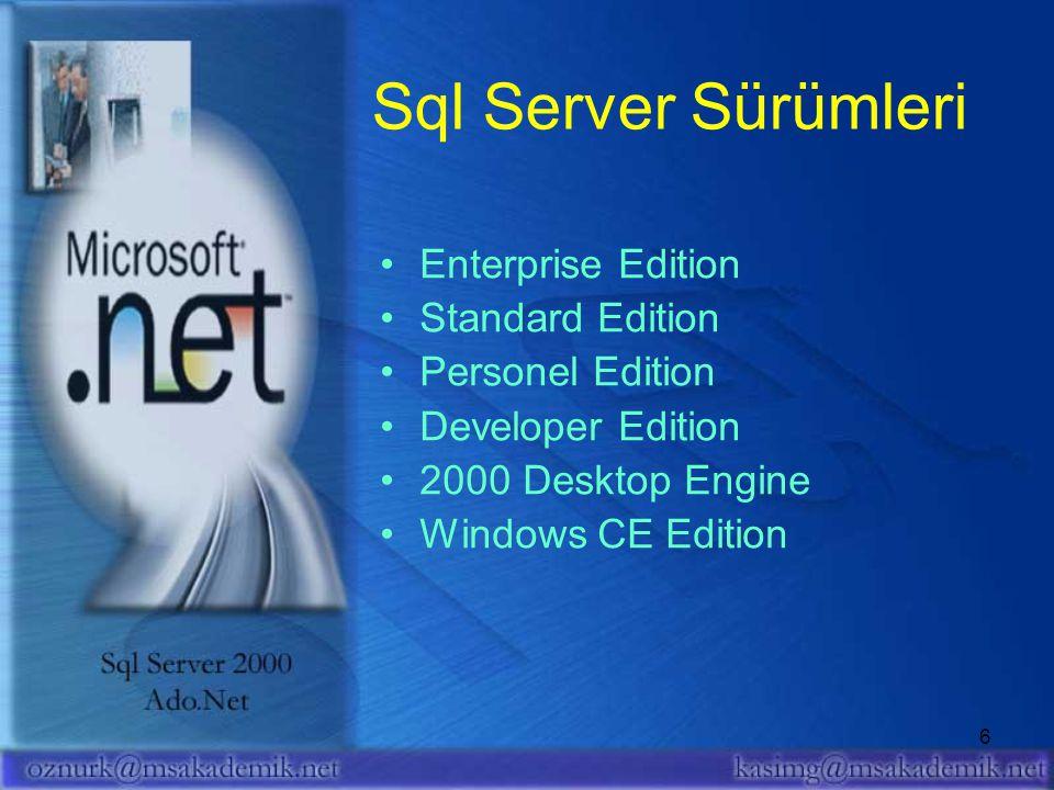 7 SQL Server 2000 Kurulumu Adım Kurulum
