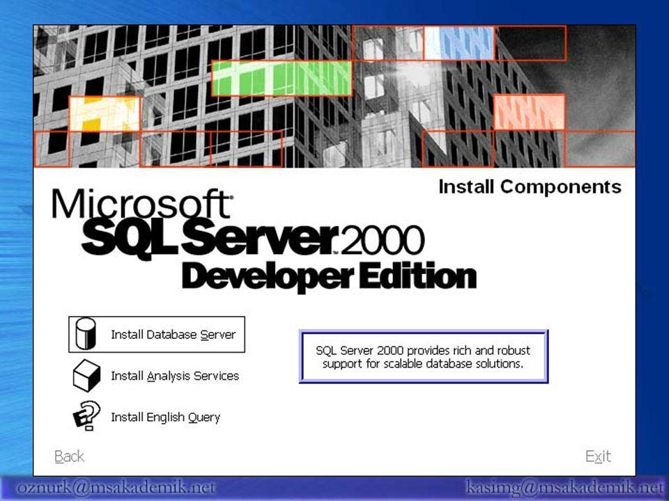 30 Sql Provider SQL Server Veritabanı Bağlantı Katmanları Ado.Net DataProvider Ado Provider OLE DB Provider Veritabanı Uygulama