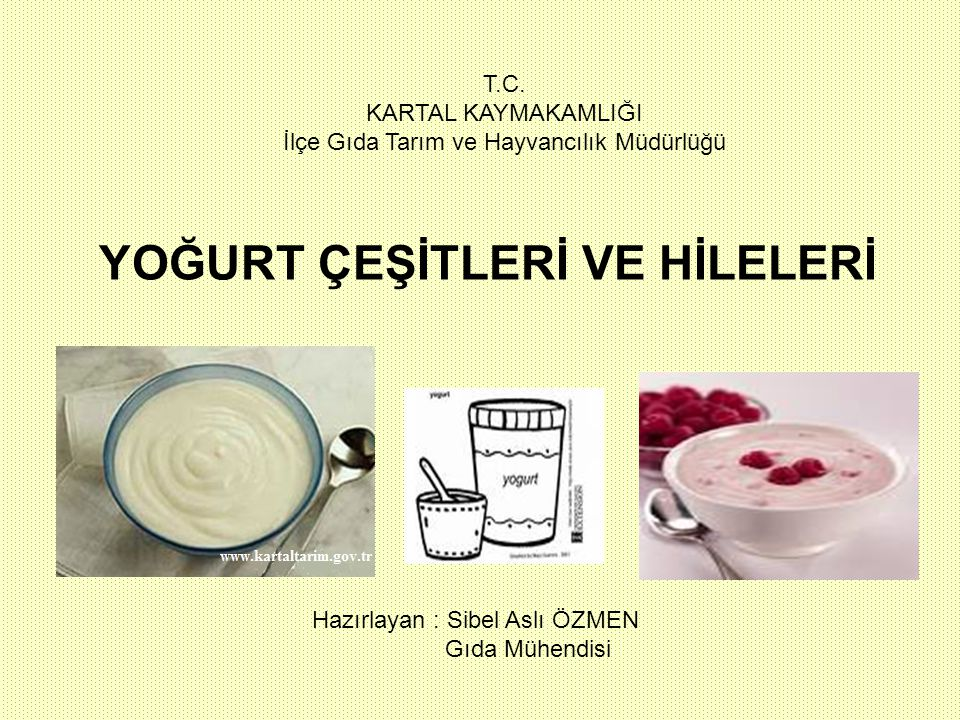 çiğ süt klarifikasyon standardizasyon kuru maddenin artırılması ön ısıtma (60-70 o C) homojenizasyon ısı işlemi ( 90 o C 5-15 dak) soğutma (43-45 o C) (aromalı yoğurtlar ise) starter kültür ilavesi (%1-3) aroma ilavesi tankta inkübasyon 41-43 o C 2-3 saat starter kültür ilavesi (%1-3) meyve marmalat vb ile karıştırma paketleme soğutma 20-30 o C inkübasyon(41-43 o C 2-3 saat) paketleme soğutma soğukta depolama soğukta depolama sade veya aromalı stirred yoğurt set yoğurt ( sade veya aromalı) (örnek meyveli yoğurtlar) (örnek Türk tipi yoğurt)