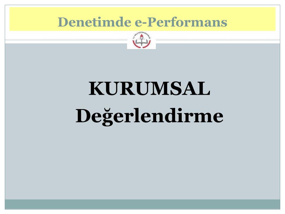 KURUMSAL Değerlendirme Denetimde e-Performans