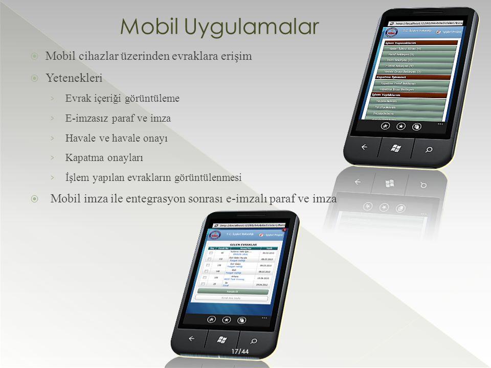 Mobil Uygulamalar  Mobil cihazlar üzerinden evraklara erişim  Yetenekleri › Evrak içeriği görüntüleme › E-imzasız paraf ve imza › Havale ve havale o