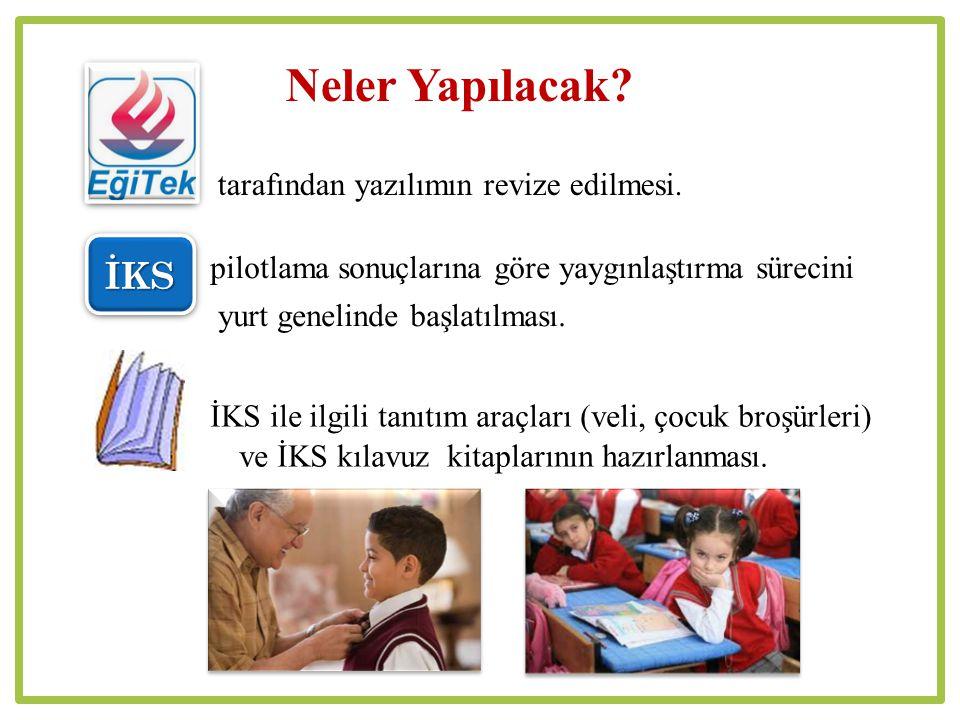 İKS ile ilgili tanıtım araçları (veli, çocuk broşürleri) ve İKS kılavuz kitaplarının hazırlanması.