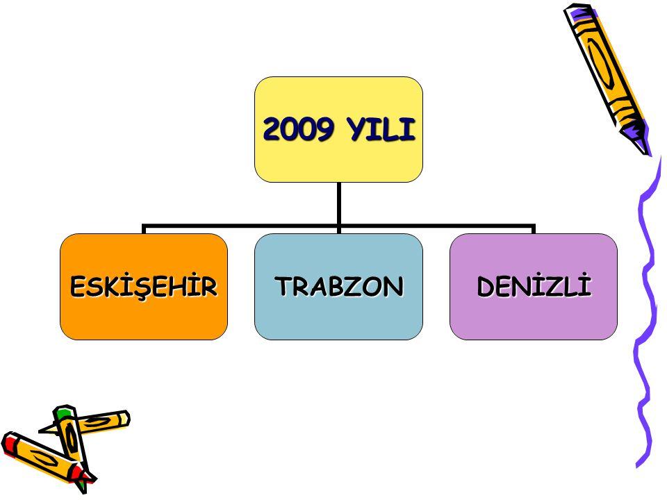 2009 YILI ESKİŞEHİRTRABZONDENİZLİ